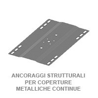 ANCORAGGI STRUTTURALI PER COPERTURE METALLICHE CONTINUE